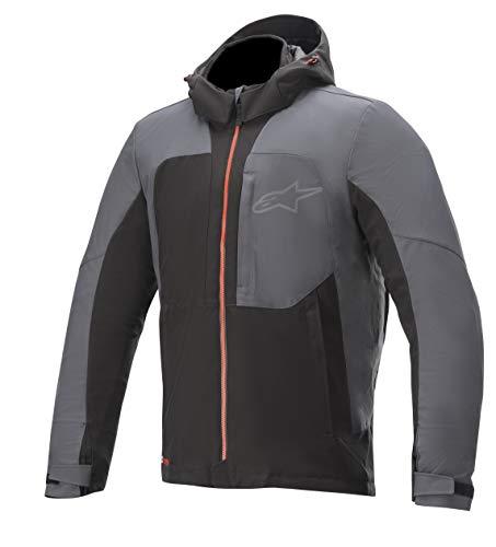 Alpinestars Men's Stratos V2 Techshell Drystar Motorcycle Jacket, Black/Asphalt/Red, XL