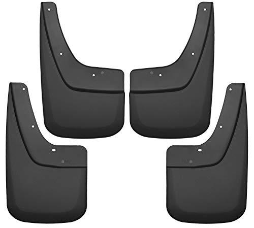 Husky Liners Fits 2014-18 GMC Sierra 1500, 2019 GMC Sierra 1500 Limited, 2015-19 GMC Sierra 2500/3500 - SINGLE REAR WHEELS Custom Front and Rear Mud Guard Set,Black,56896