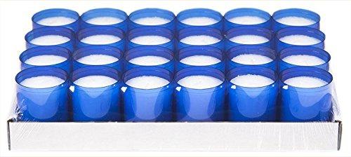 Sovie Refill Kerzen 24 Blaue Teelichter mit extra Langer Brenndauer (24h) für Feiern/Party/Gastronomie
