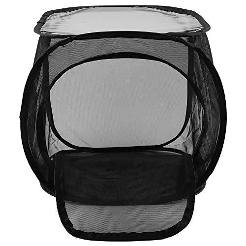 01 Schmetterling Tragbarer Zuchtkäfig, wiederverwendbares Garnnetz Einfach zu verwendender, hochwertiger, belüfteter Polyester-Zuchtkäfig für die Gartenterrasse