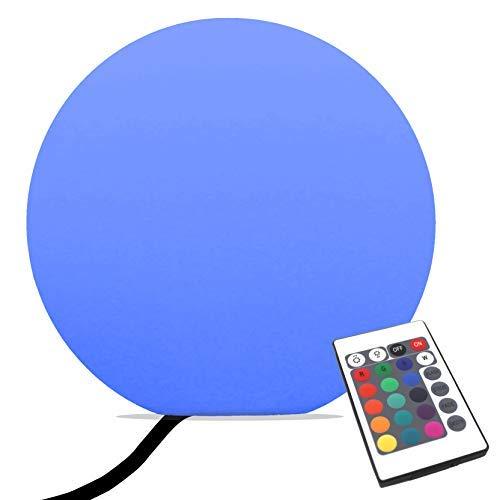 PK Green Lampadaire Boule LED sur Secteur, 40cm, Multicolore