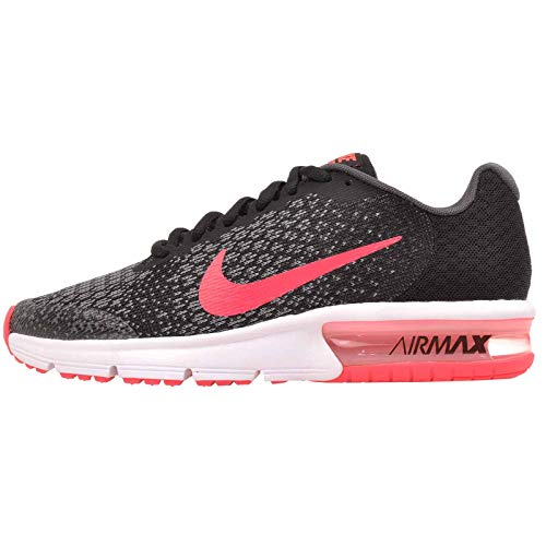 Nike Air Max Sequent 2 GS Running Trainers 869994 Sneakers Shoes (UK 3 US 3.5Y EU 35.5, Black Racer Pink Anthracite 005)