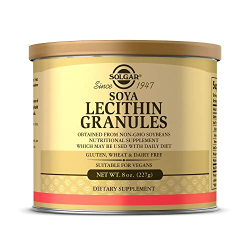 Solgar Lecithin Granules, 8 oz. - Supports Overall Health - Natural Soya Lecithin - Source of Choline & Essential Fatty Acids - Vegan, Gluten Free, Dairy Free - 30 Servings