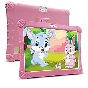 Tablet 10 Pulgadas Barats 4G,3GB RAM 32GB/128GB ROM, Tablet Niños con WiFi 10 Pulgadas Android 9.0 1.5Ghz Quad Core,Certificado por Google GMS,8MP Cámara,Tableta Batería de 8500mAh,Netflix OTG(Pink)