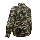 [服のみ] ファン服 空冷服(高い風循環性)服が良く膨らむ 風を2方向から首へ集中 服内の電池を外から直接操作可能 (今風デザイン)少し細身なシルエット 綿100% (L)
