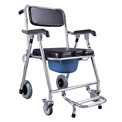 Toilettenstuhl, Leichter Alter Mann, sitzender Rollstuhl, Faltbare Toilette, Schüssel, Rollstuhl, Bad, WC, mobiles WC, für Behinderte geeignet