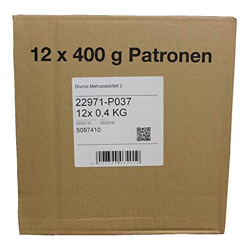 Wallentin & Partner (8,32 EUR/kg) Mehrzweckfett 12 Kartuschen 400g Fett, Schmierfett, Kartusche