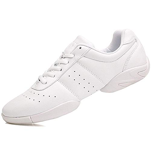 Smapavic Cheer Shoes Women White Cheerleading Dance Shoes Fashion Sneakers Tennis Athletic Sport Training Shoes for Gilrs White 9 B (M) US
