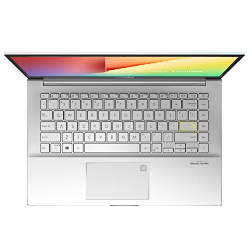 ASUS VivoBook S S14 (2020), 14.0-inch (35.56 cms) FHD, Intel Core i5-10210U 10th Gen, Thin and Light Laptop (8GB/512GB SSD/2GB MX250 Graphics/Office 2019/Windows 10/White/1.22 Kg), S433FL-EB167TS