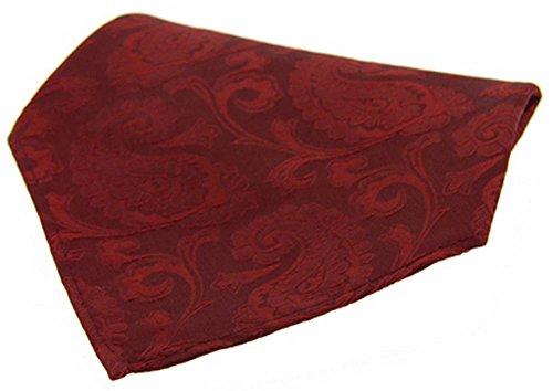 David Van Hagen Mouchoir rouge de Grand Paisley Silk de