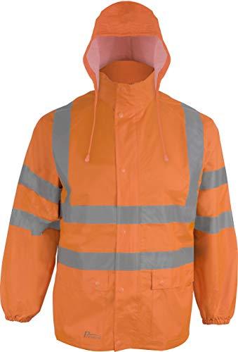 Prevent Warnschutz-Regenjacke RJO, leuchtorange, Gr. L
