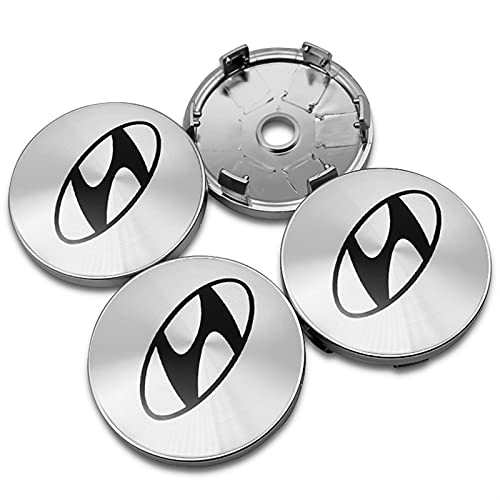 RHGEIUCY Gorra de Logotipo de la Tapa del Centro de la Rueda de 60 mm para Hyundai Palisade Sonata Accent Tucson I30 i20 Accesorios Solaris