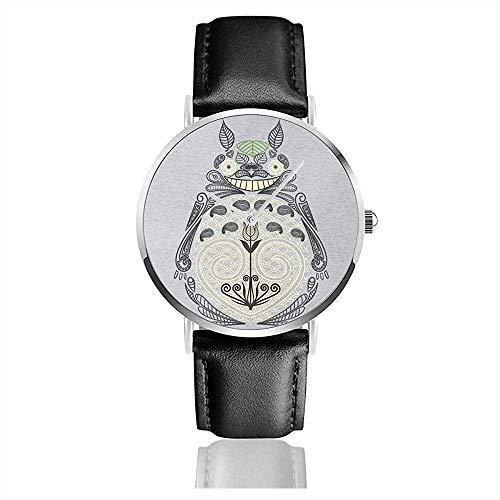 Unisex Business Casual Henna Mein Nachbar Uhren Quarz Leder Uhr