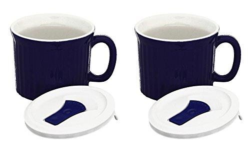 CorningWare Colours Pop-Ins 20-oz Soup Mug Vented Lid - 2 Pack (Twilight)
