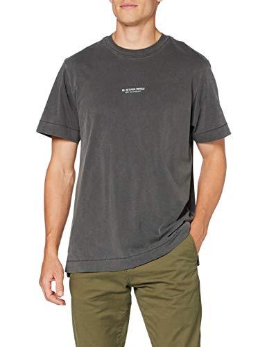 G-STAR RAW Reflective Logo Loose Camiseta, dk Negro GD 336-B564, X-Small para...