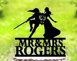 Link And Zelda Cake Topper,Wedding Cake Topper,Zelda Cake Topper,Link Cake Topper,Personalized Wedding Cake Topper,Funny Cake Topper