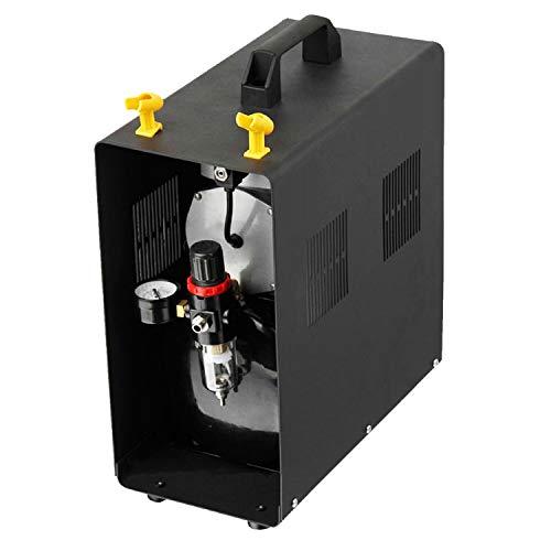 AMUR Airbrush Kompressor mit Lufttank Drucktank, Airbrush Kompressor ölfrei Airbrushkompressor f. Anfänger und Fortgeschrittene Kompressor für Airbrush Set für AirbrushPistole