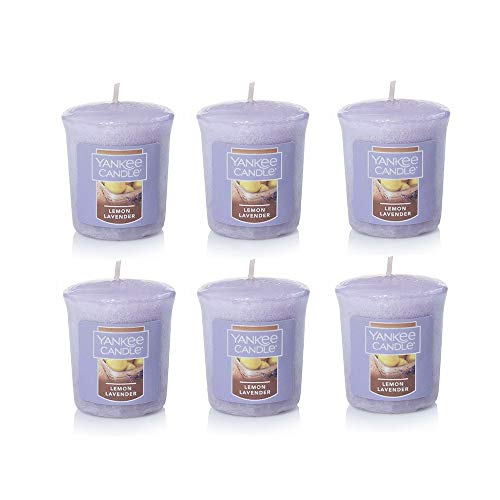 Yankee Candle Lot of 6 Lemon Lavender Votives
