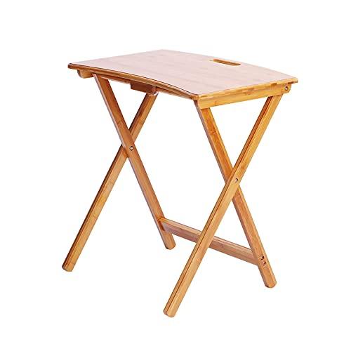 Escritorio Plegable Bambú, Escritorio Portátil Estable Habitación Para Niños Estudio Estudio Estudio Sala De Estudio Escritorios De Lectura Fácil De Guardar Mesa A La Lateral Multifuncional(Size:61CM)