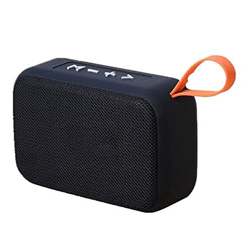 ZZNNN Altavoces Altavoz Bluetooth portátil Subwoofer inalámbrico para Exteriores Soporte Tarjeta TF Radio FM Versión Auxiliar de Bluetooth (Color : Black)