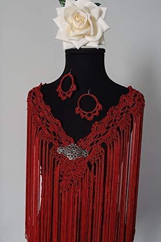Mantoncillo de flamenca de crochet y cuquillo 💚