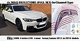 OEMM - Juego de 4 deflectores de viento para BMW Serie 3 M3 F30 SALOON/Sedán 4 puertas 2011 2012 2013 2014 2015 2016 2017 2018 2019 Deflectores acrílicos de vidrio