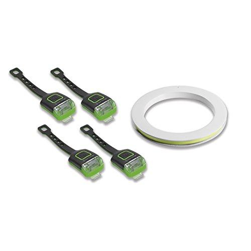 Glow Garage Fun-Leuchtstreifen für Fahrradfelgen (Neongrün, 5 teiliges Set) Fahrradbeleuchtungsystem, one Size