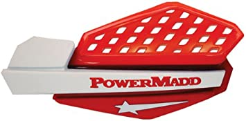 PowerMadd 34232 Star Series Handguard Red//Silver