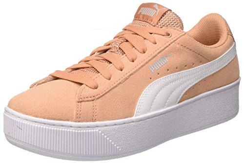 PUMA Damen Vikky Platform Sneaker, Pink (Dusty Coral White), 41 EU