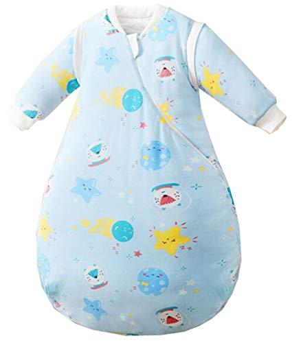 Chilsuessy Kinderschlafsack Baby Winterschlafsack Schlafsaecke aus GOTS Bio Baumwolle von Geburt bis 4 Jahre alt (XL/Koerpergroesse 90-100cm, Sternenhimmel)
