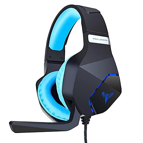 1 unids auriculares con cable Gaming Headset ajustable con micrófono para PC...