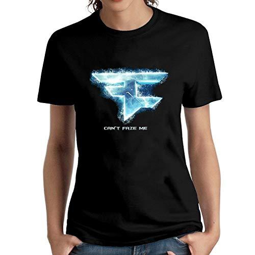 HAIZHENY Mujer Faze Clan Me Cotton Camiseta/T-Shirt tee Small