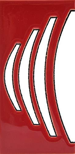 ART ESCUDELLERS Numeros y Letras en azulejo de Ceramica, Pintados a Mano en técnica Cuerda Seca para Nombres, direcciones y señaléctica. Diseño USA Mediano 10,9 cm x 5,4 cm. (MARGEN Cenefa)