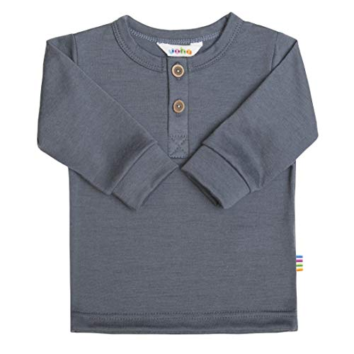 Joha Baby T-shirt à manches longues en laine mérinos pour enfant garçon - Bleu - 92