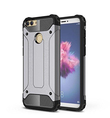 Rockwey® Huawei P Smart Cover,Coperture antiurto,TPU+PC,resistente e perfetta corrispondenza Huawei P Smart(grigio)