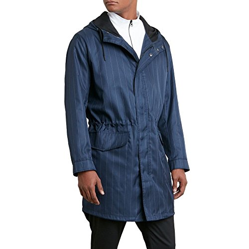 Kenneth Cole REACTION Men's Fall Long Anorak Jacket Navy Small
