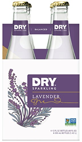DRY Sparkling Soda, Lavender, 12 Fl Oz (Pack of 4)