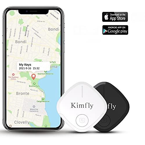 Localizador de llaves con aplicación Bluetooth, ultrafino, inalámbrico, rastreador inteligente para encontrar llaves, cartera, teléfono móvil y equipaje, compatible con iOS y Android (2 unidades)