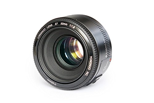Yongnuo YN50mm F1.8 Lens Large Aperture Auto Focus Lens Fixed Standard Prime Lens YN50mm F1.8C Compatible with Canon EF Mount EOS Camera
