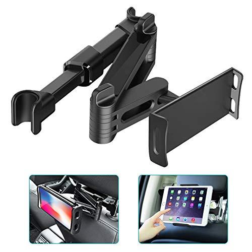 Supporto per poggiatesta per auto, supporto per tablet estensibile universale per sedile posteriore per auto per smartphone tablet iPad iPhone Samsung 4 -10,6
