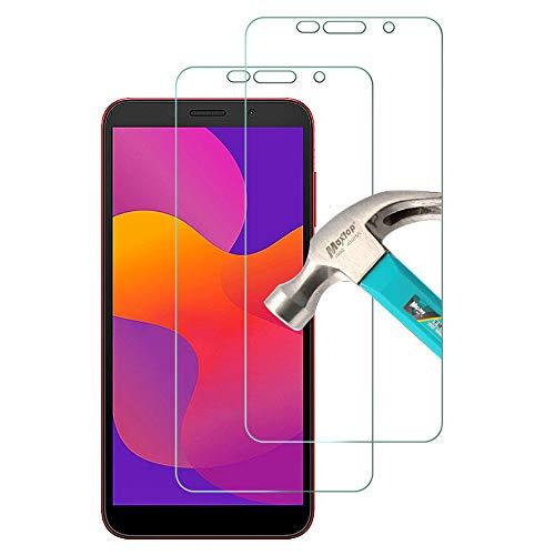 TQmate 2 Stück, Bildschirmschutzfolie für Huawei Honor 9S/ Huawei Y5p, HD Panzerglas, Kratzfest, 9H Festigkeit, Einfach anzubringende Folie