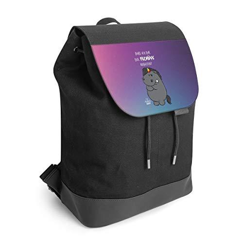 Rucksack mit Lasche 30 cm x 40 cm Daypack für Damen & Herren Tasche mit Motiv Pummel & Friends Pummeleinhorn Einhorn