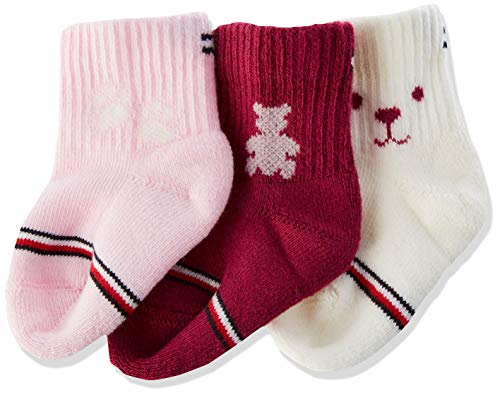 Tommy Hilfiger unisex-baby TH 3P NEWBORN GIFTBOX Socks, pink combo, 11/14 (3er Pack)