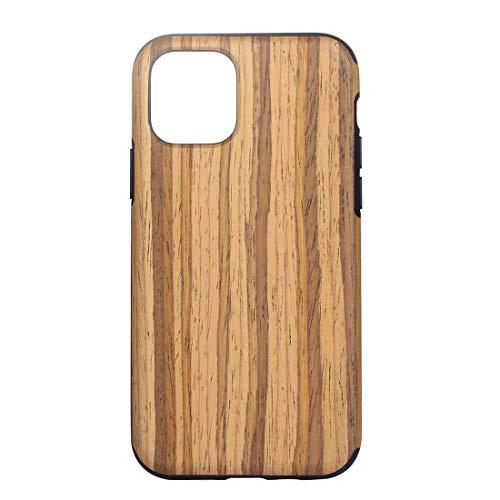 DELANSHI Mobiele Telefoon Compatibel met IPhone XI 2019 Back Case Houten Textuur TPU Schokbestendige Beschermer Cover Back Shell (Hood-Type : Teak)