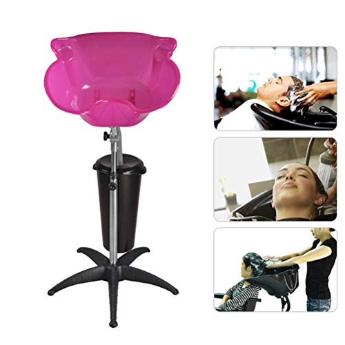 Bac à Shampoing Évier de shampoing Portable Bassin de lavabo réglable en Hauteur avec équipement de Salon de beauté