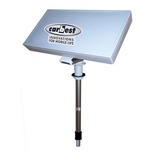 Carbest handmatige platte antenne HD, inbouwmast, skew-aanpassing, Lnb voor caravans en campers