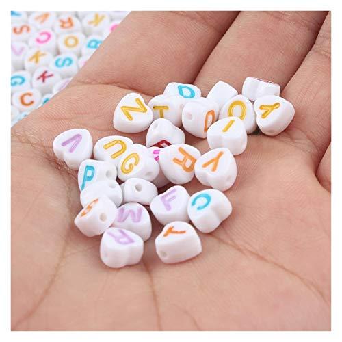 HETHYAN Beads de acrílico con Letras Mixtas Alfabeto Plano Redondo Cube Digital CUBIERTE sobre Spacer Beads para JOYERÍA Hacer Hecho Hecho Pulsera DE DIY Collar