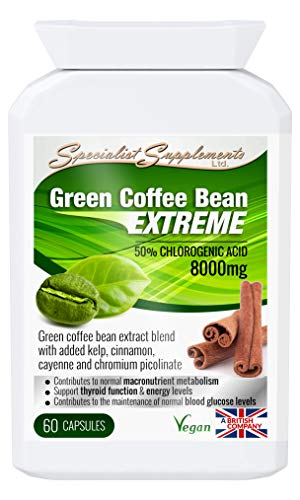 Specialist Supplements Green Coffee Bean Extreme Weight Loss Formula 60 Capsules