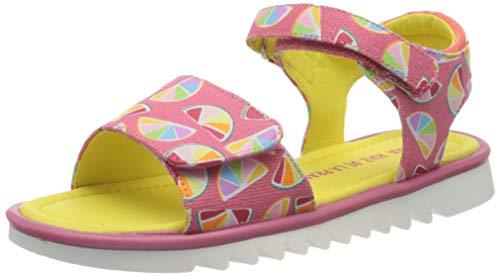 Agatha Ruiz De La Prada Mädchen 202961 Peeptoe Sandalen, Pink (Coral Y Mandarinas (Textile Y Estampado) Paprika), 27 EU