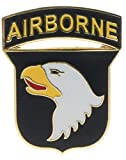 Sujak Military Items USA 101st Airborne Div. Insignia Hat or Lapel Pin HON14651h, Blue Yellow Red White Gold, 1 1/8 x 1 inches